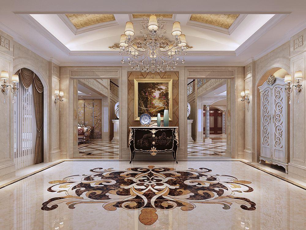 别墅玄关装修设计技巧及细节-「御墅国际装饰」