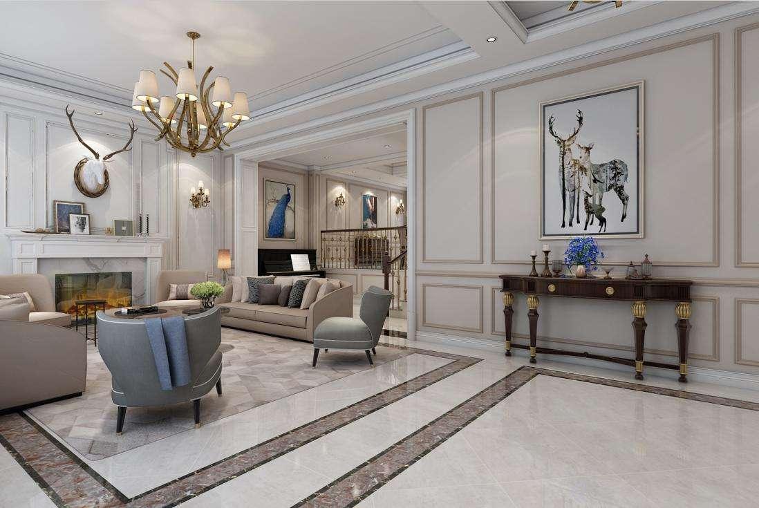 别墅一楼设计欧式风格装饰-「御墅国际装饰」