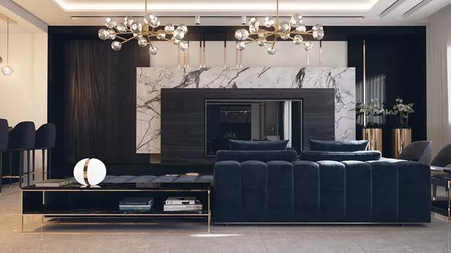 现代风格别墅装修技巧设计要点-「御墅国际装饰」