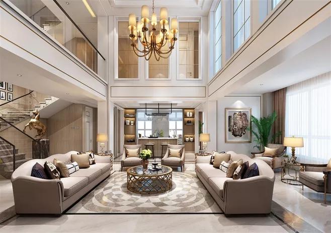 现代简约风格别墅装修软装设计搭配介绍-「御墅国际装饰」