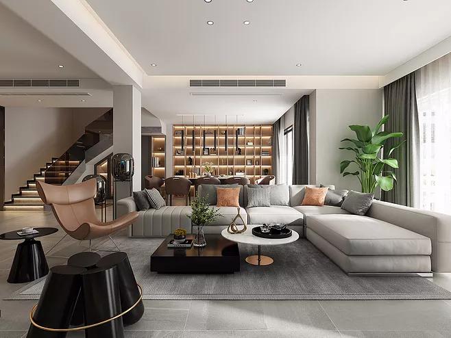 别墅客厅装修设计有哪些事项需要了解的-「御墅国际装饰」