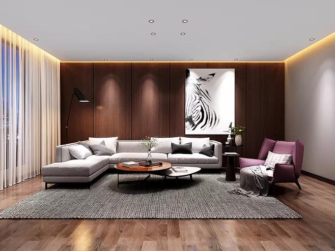 别墅客厅天花板不吊顶要如何装修设计-「御墅国际装饰」